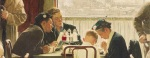 "This undated photo provided by Sotheby's shows the popular Norman Rockwell masterpiece ""Saying Grace,"" which is heading for the auction block. It is among seven works by The Saturday Evening Post illustrator going on sale at Sotheby's in New York on Dec. 4. (AP Photo/Sotheby's)"