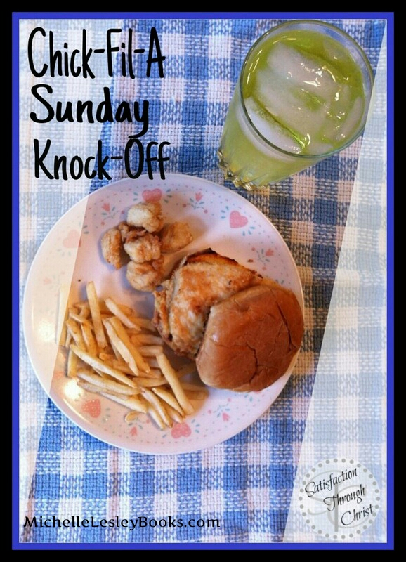Just when you get a hankering for Chick-Fil-A, it's Sunday, and they're closed. What to do? Make your own! Here's a great recipe.